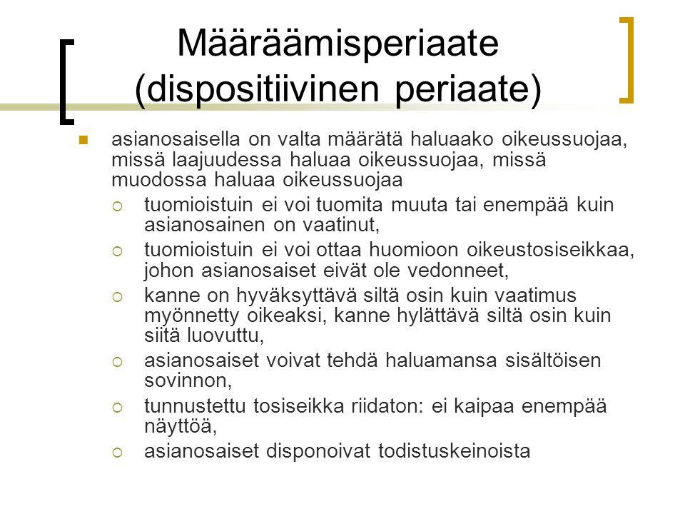 Määräämisperiaate (dispositiivinen periaate)