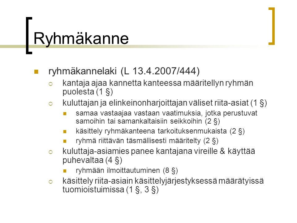 Ryhmäkanne ryhmäkannelaki (L 13.4.2007/444)