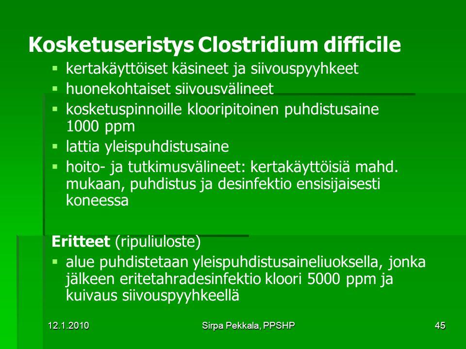 Kosketuseristys Clostridium difficile
