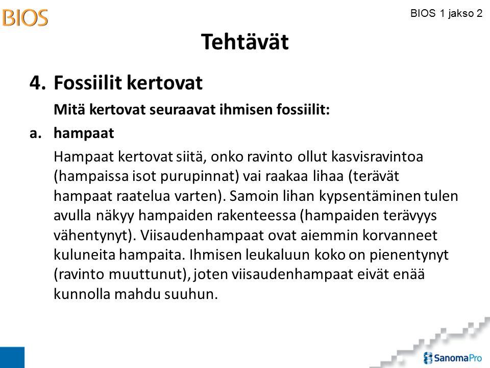 Tehtävät 4. Fossiilit kertovat