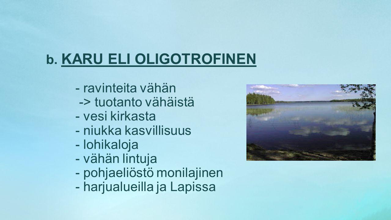 b. KARU ELI OLIGOTROFINEN