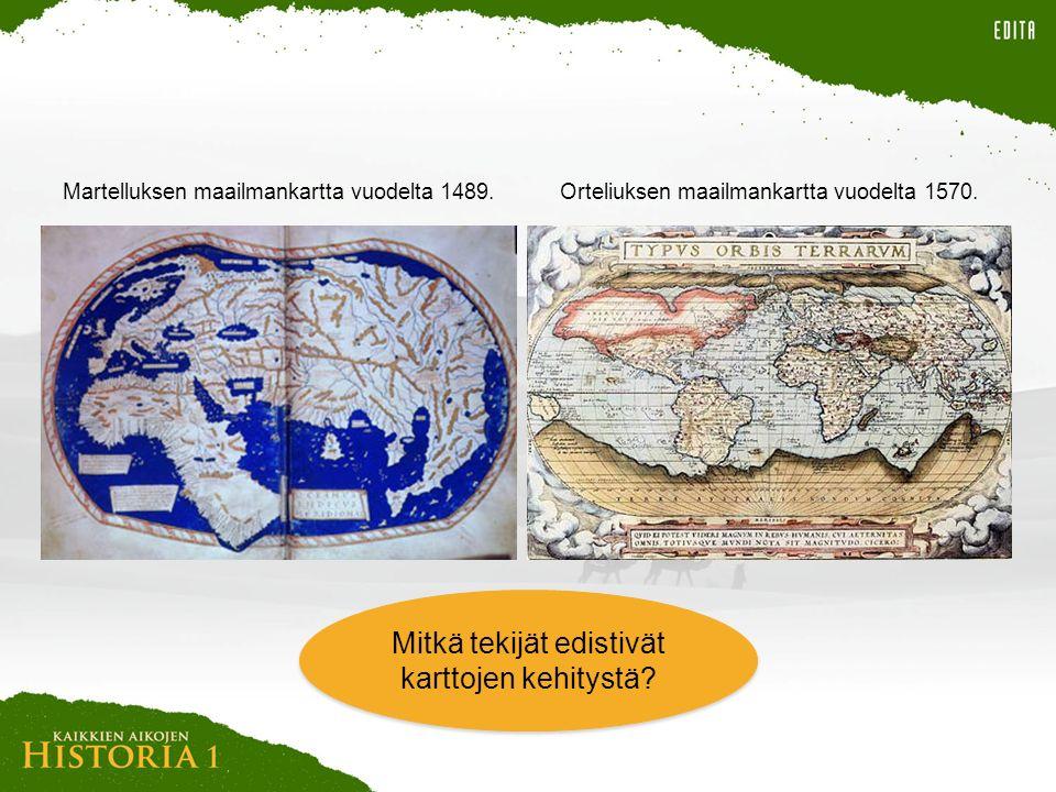 Mitkä tekijät edistivät karttojen kehitystä