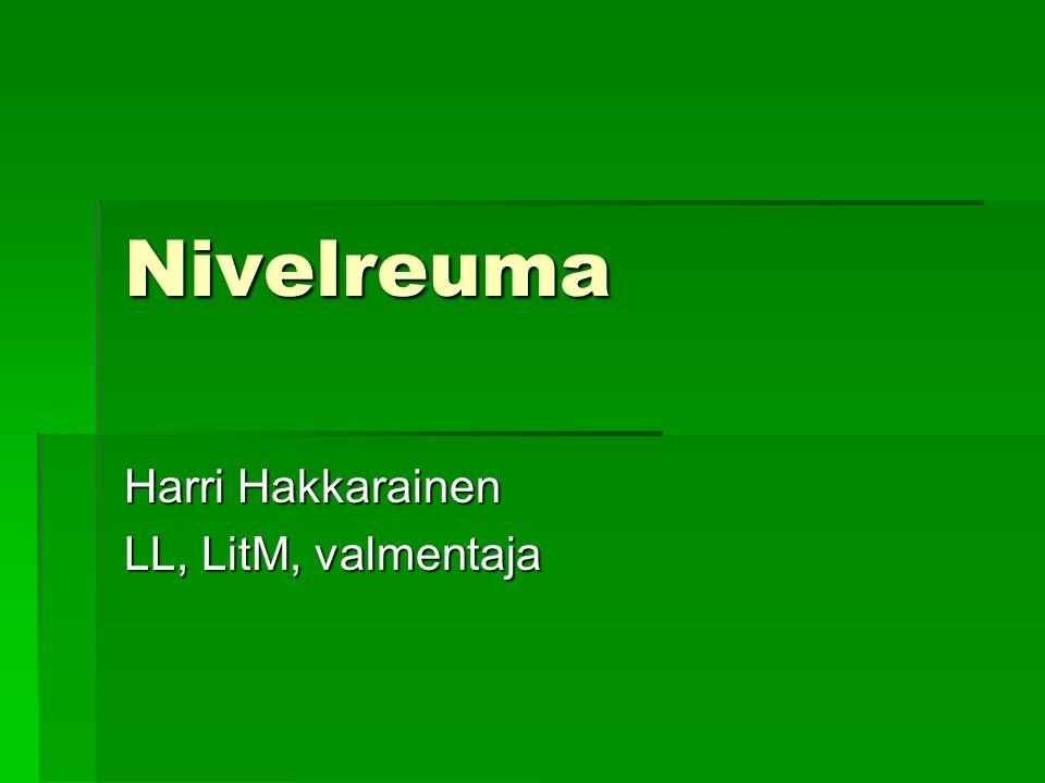 Harri Hakkarainen LL, LitM, valmentaja