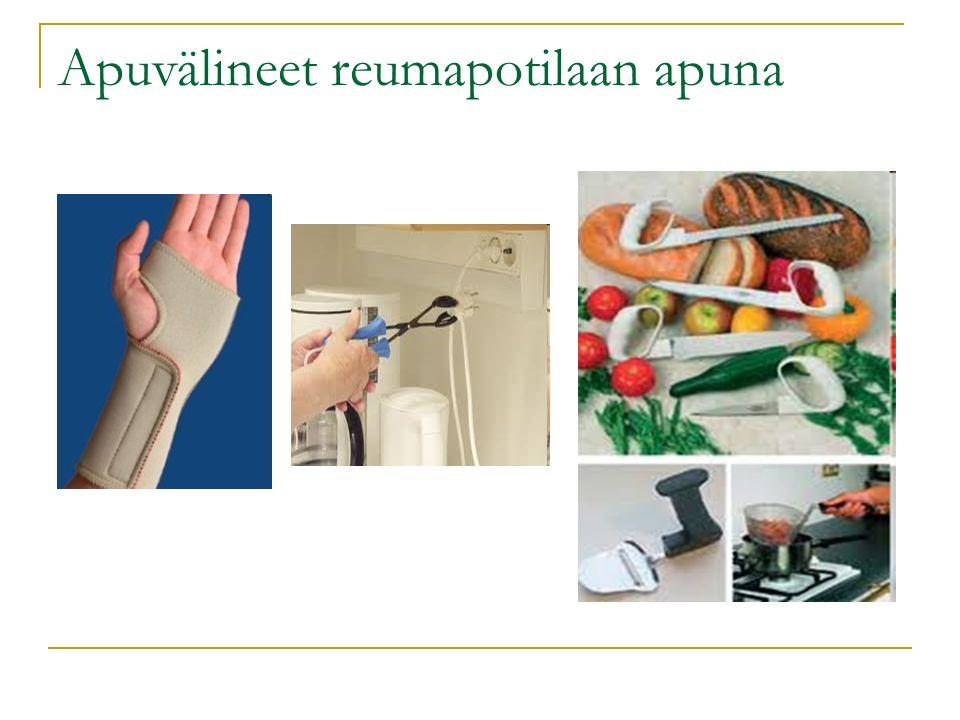 Apuvälineet reumapotilaan apuna