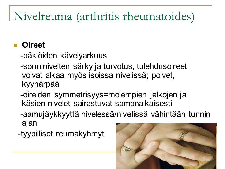 Nivelreuma (arthritis rheumatoides)