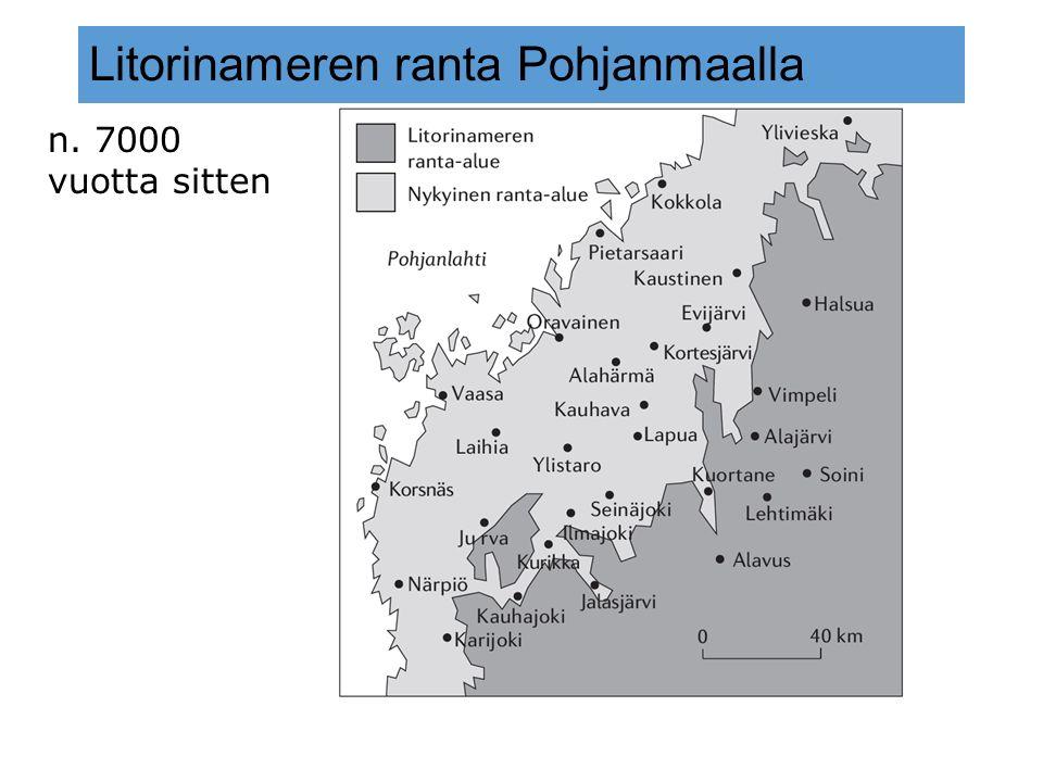 Litorinameren ranta Pohjanmaalla