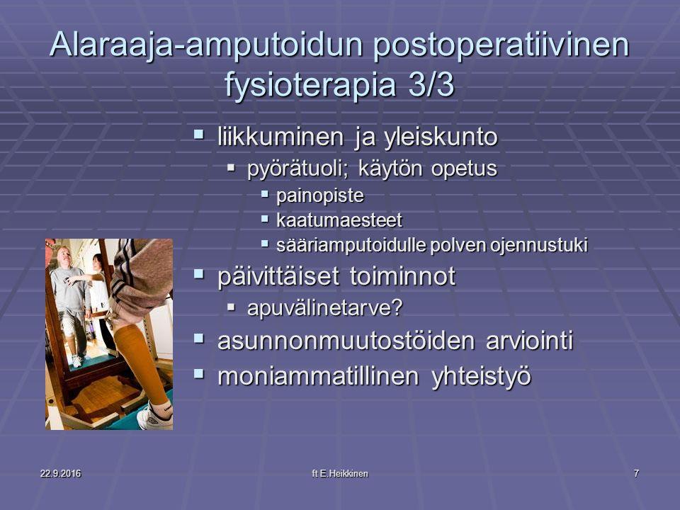 Alaraaja-amputoidun postoperatiivinen fysioterapia 3/3