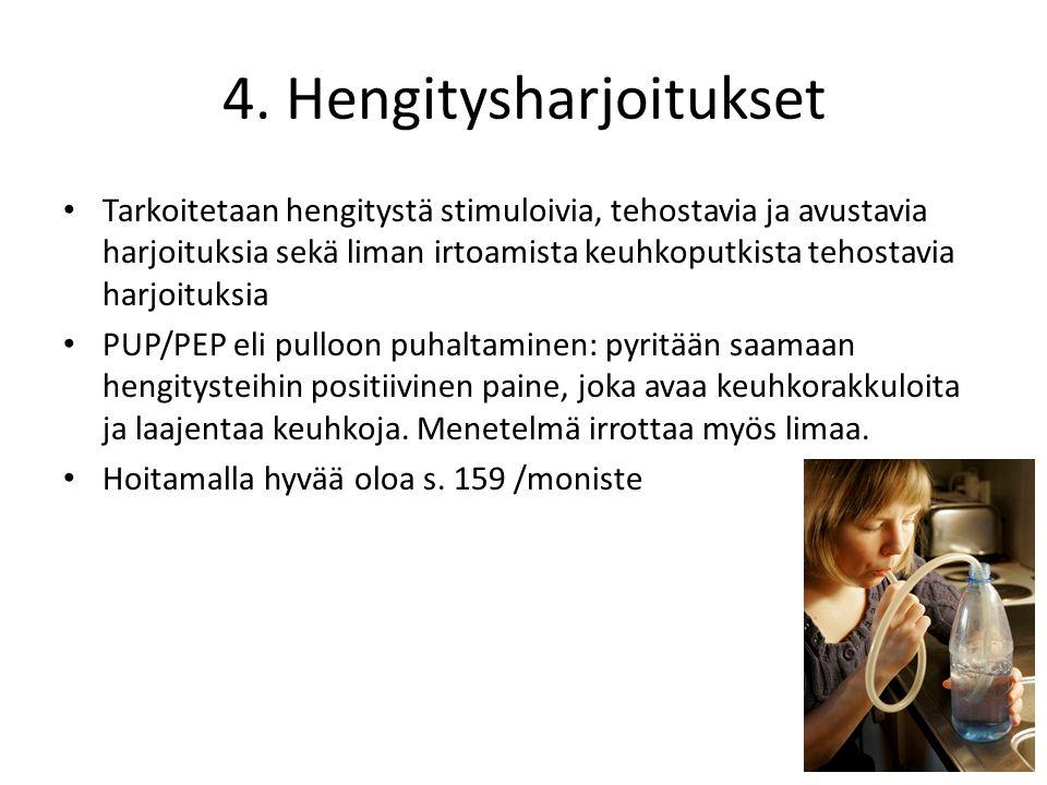 4. Hengitysharjoitukset