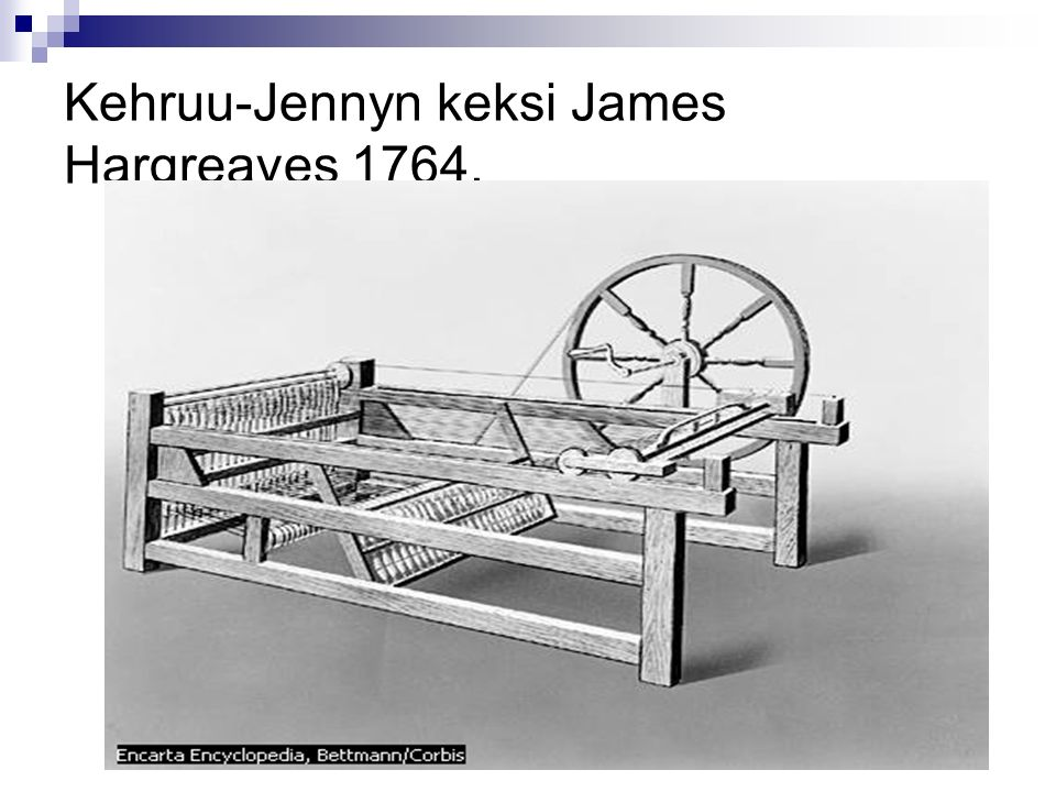 Kehruu-Jennyn keksi James Hargreaves 1764.