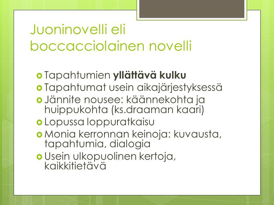 Juoninovelli eli boccacciolainen novelli