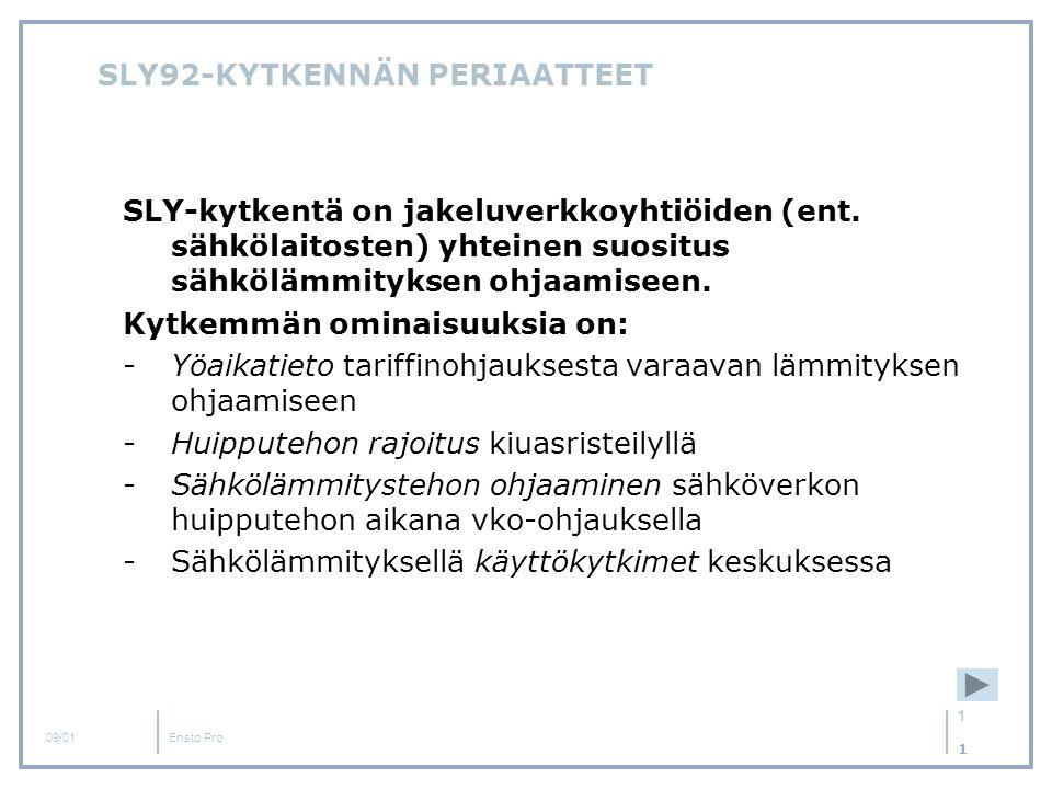SLY92-KYTKENNÄN PERIAATTEET