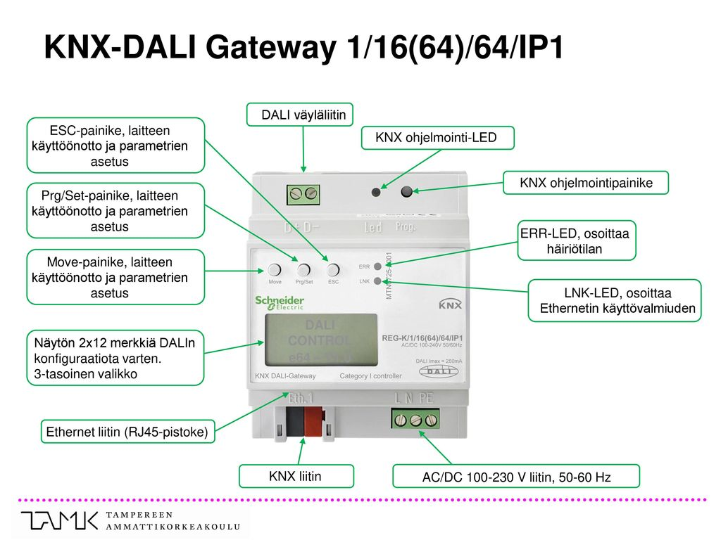 KNX-DALI Gateway 1/16(64)/64/IP1