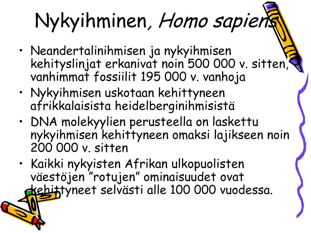Nykyihminen, Homo sapiens