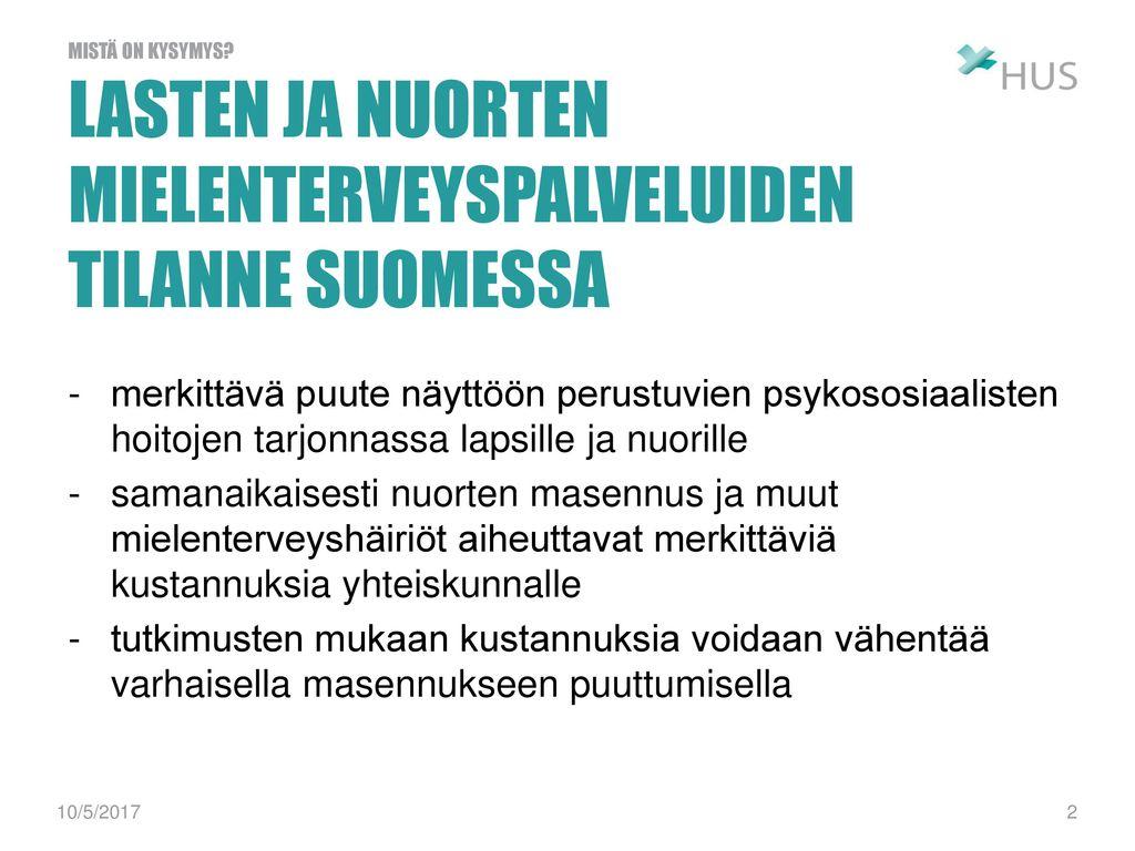 lasten ja nuorten mielenterveyspalveluiden tilanne suomessa