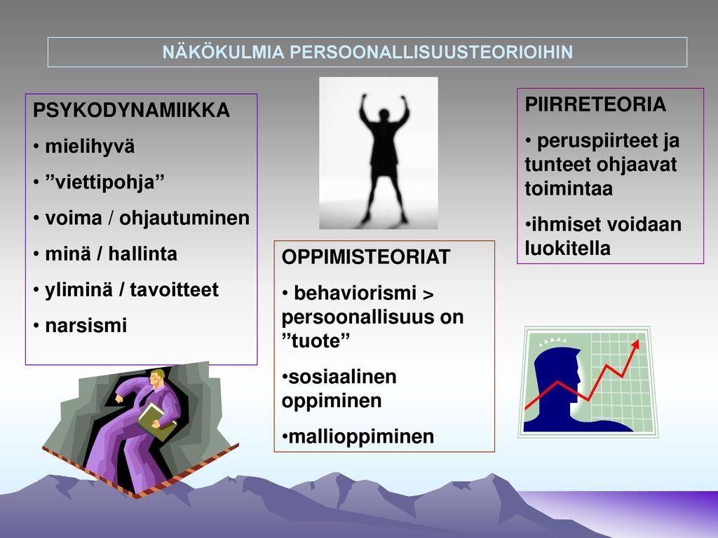 NÄKÖKULMIA PERSOONALLISUUSTEORIOIHIN