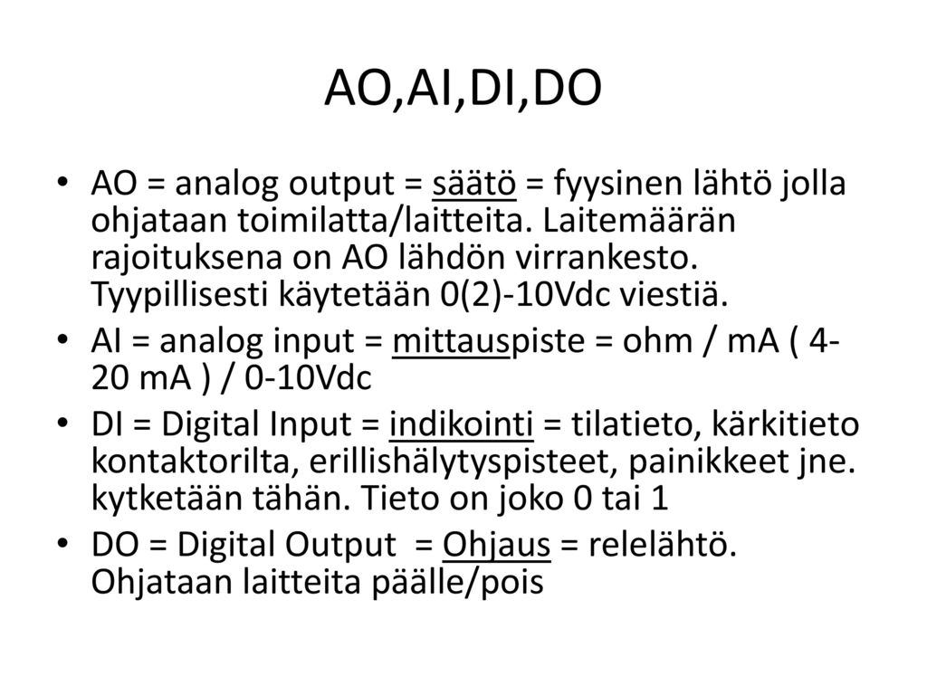 AO,AI,DI,DO