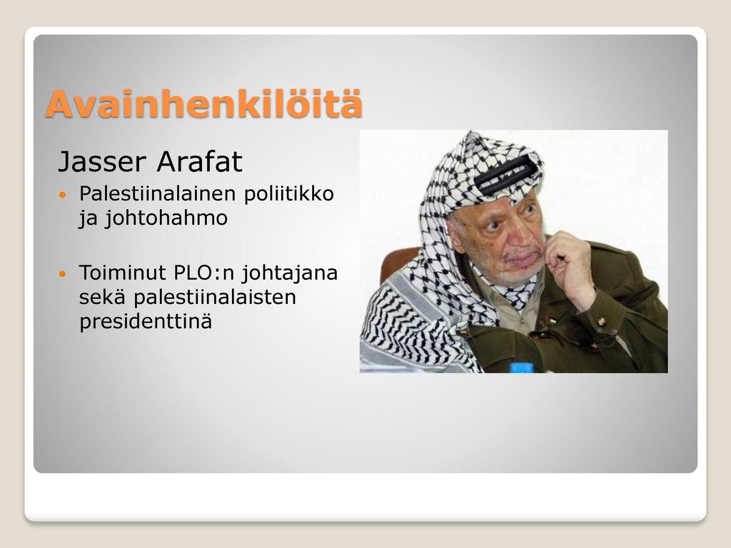 Avainhenkilöitä Jasser Arafat