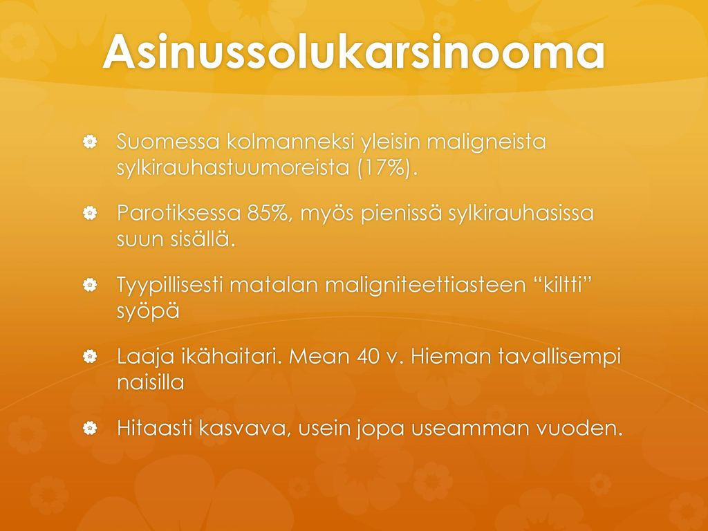 Asinussolukarsinooma