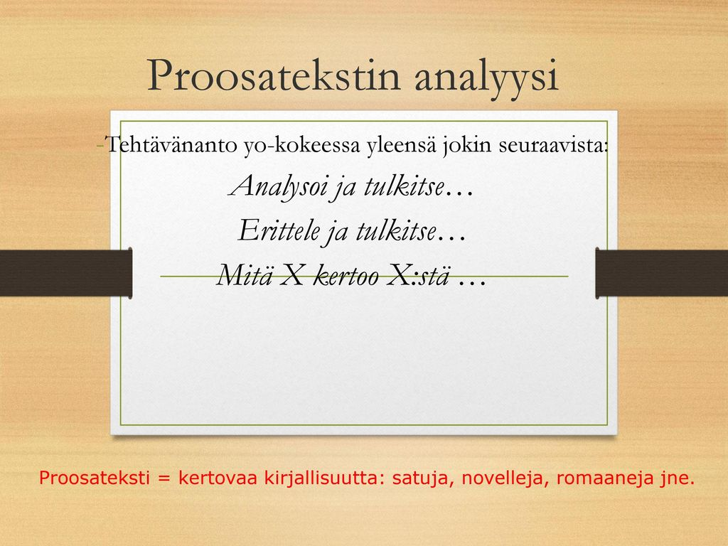 Proosatekstin analyysi