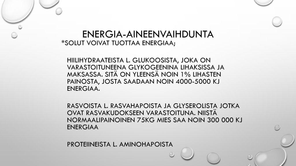 Energia-aineenvaihdunta
