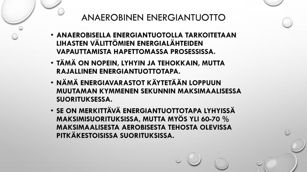 Anaerobinen energiantuotto