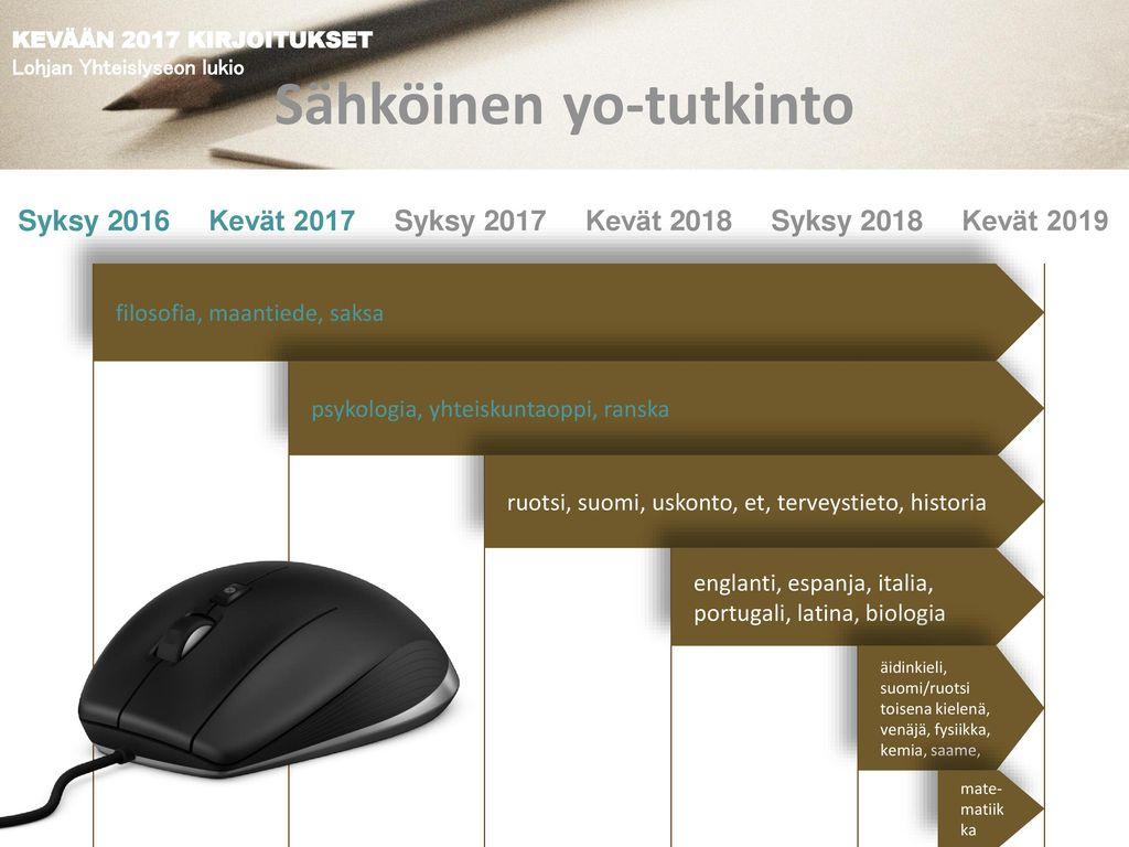 KEVÄÄN 2017 YLIOPPILASKIRJOITUKSET Lohjan Yhteislyseon lukio - ppt lataa