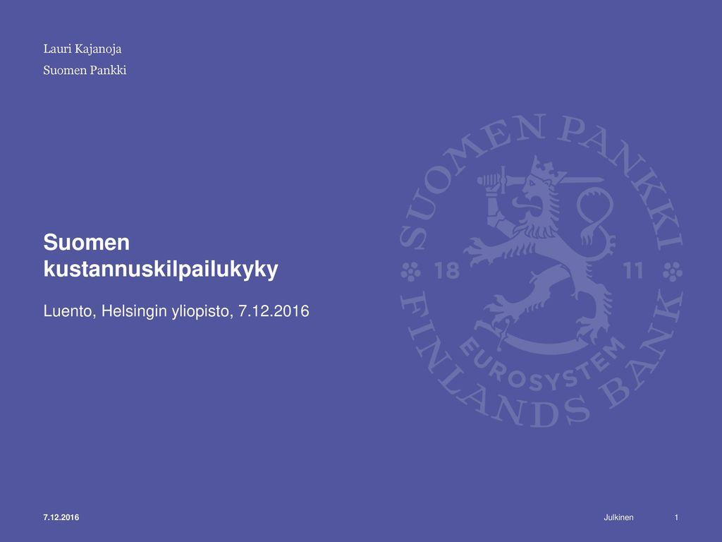 Suomen kustannuskilpailukyky