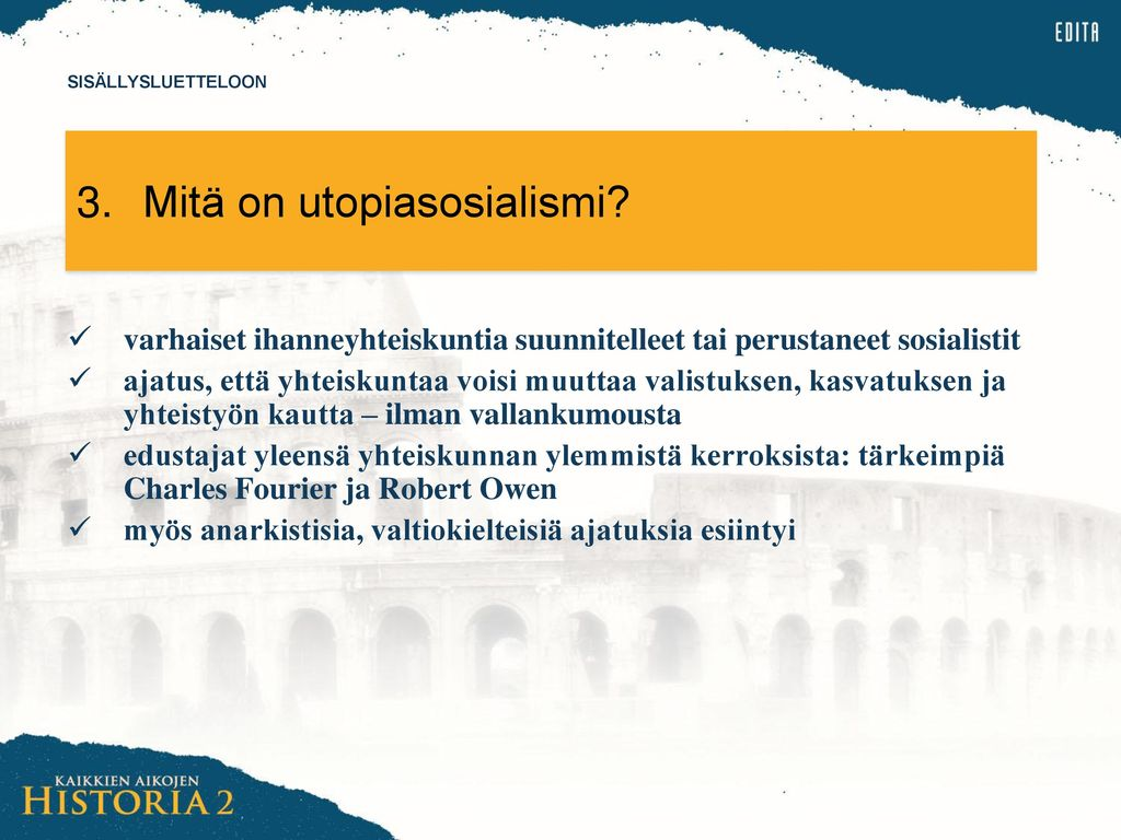 3. Mitä on utopiasosialismi