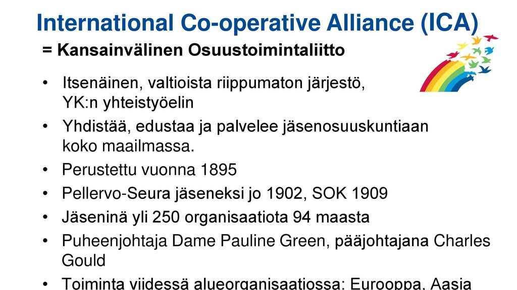 International Co-operative Alliance (ICA)