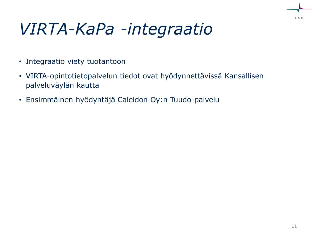 VIRTA-KaPa -integraatio