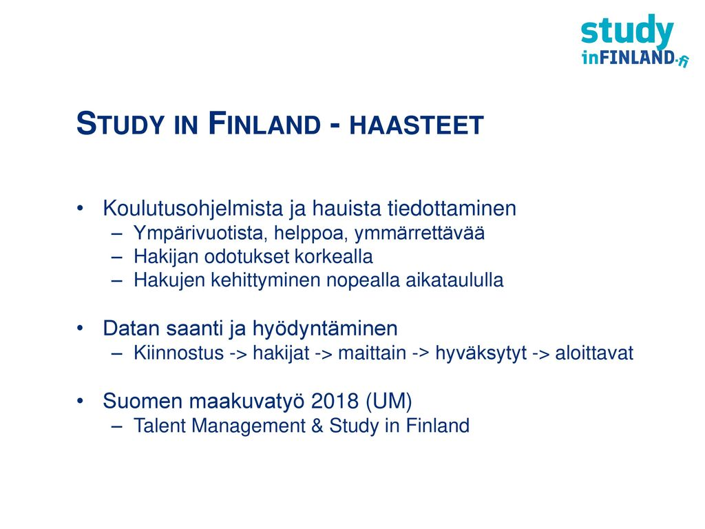 Study in Finland - haasteet