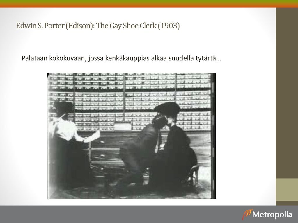 Edwin S. Porter (Edison): The Gay Shoe Clerk (1903)