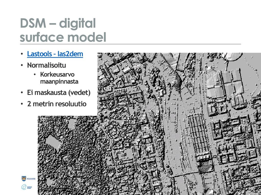 DSM – digital surface model