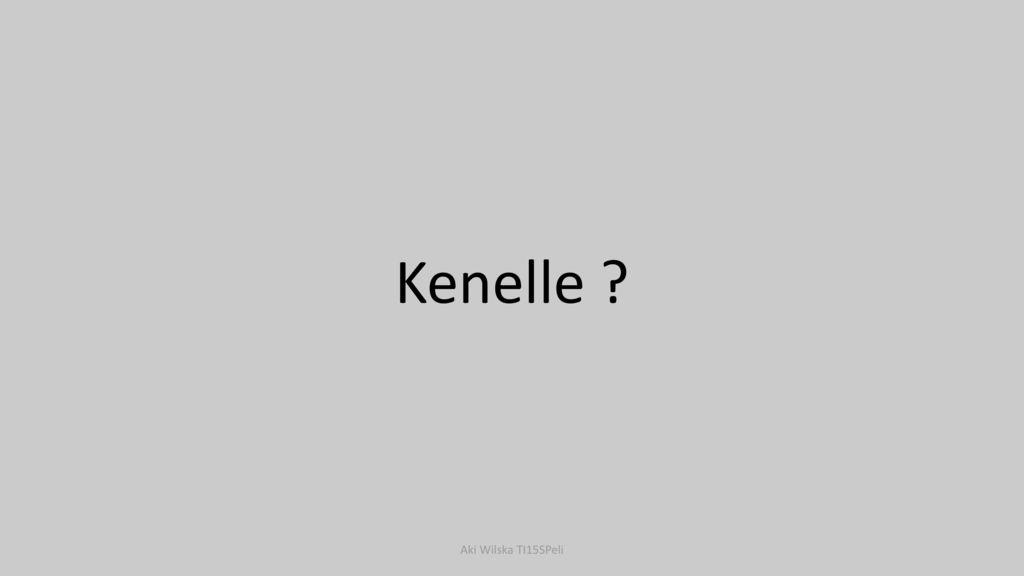 Kenelle Aki Wilska TI15SPeli