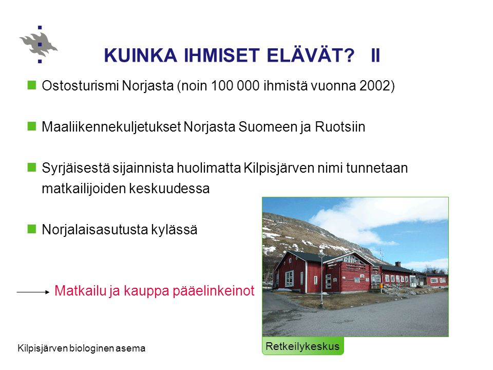 KUINKA IHMISET ELÄVÄT II