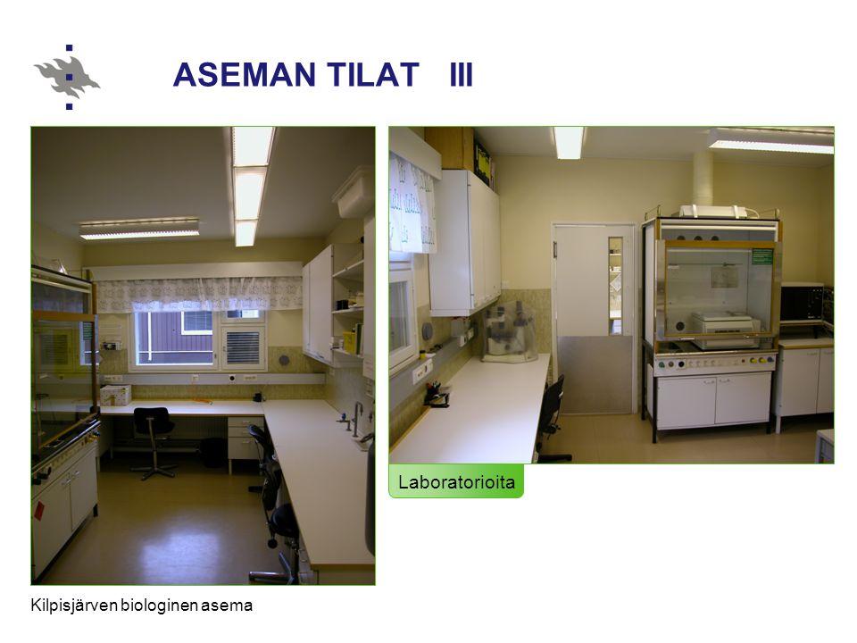 ASEMAN TILAT III Laboratorioita