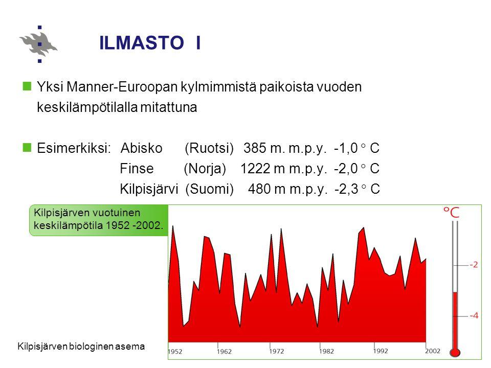 ILMASTO I Yksi Manner-Euroopan kylmimmistä paikoista vuoden keskilämpötilalla mitattuna.