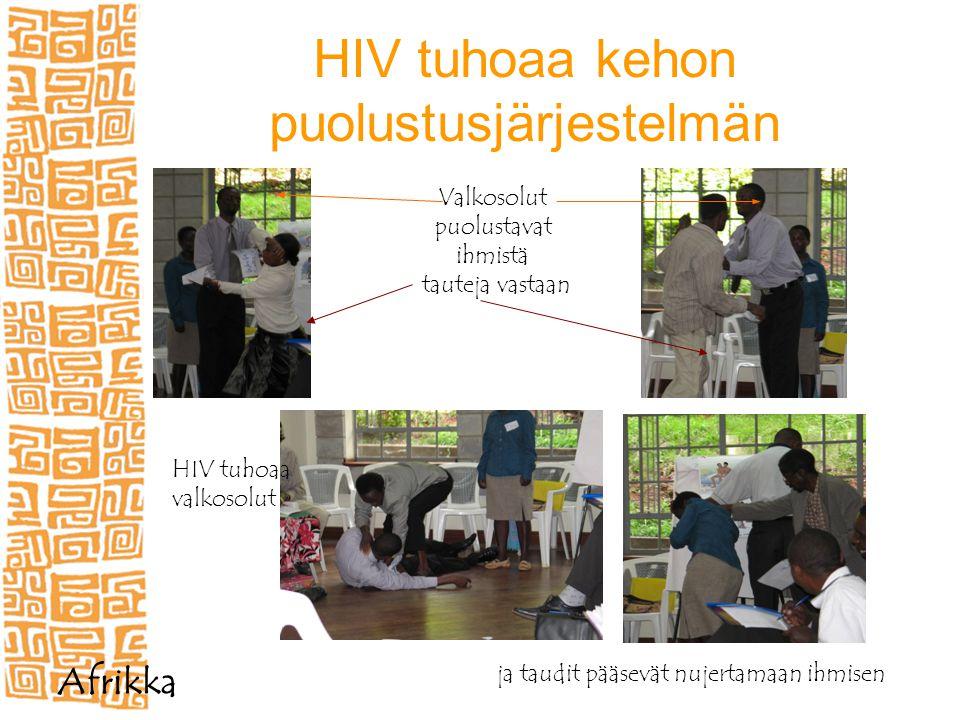 HIV tuhoaa kehon puolustusjärjestelmän