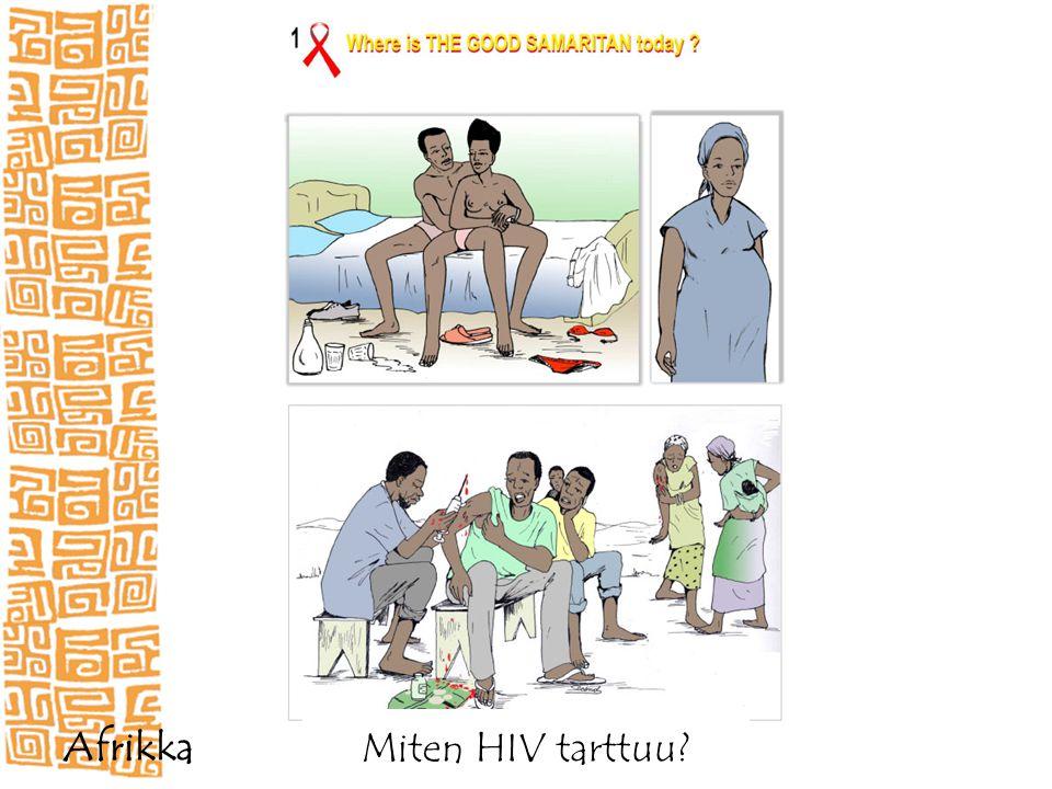 Miten HIV tarttuu Afrikka