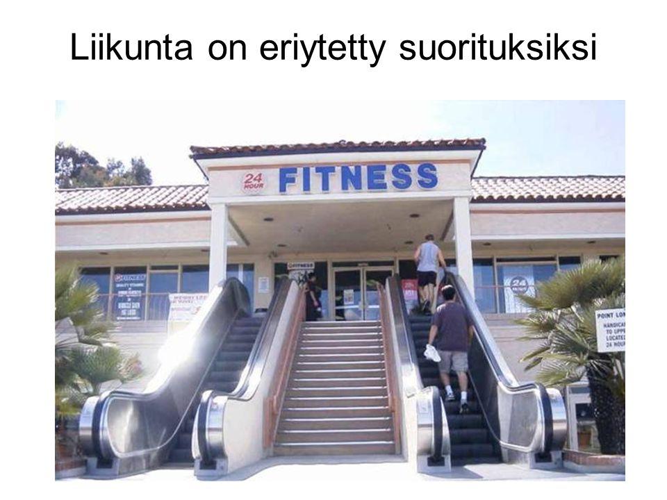 Liikunta on eriytetty suorituksiksi