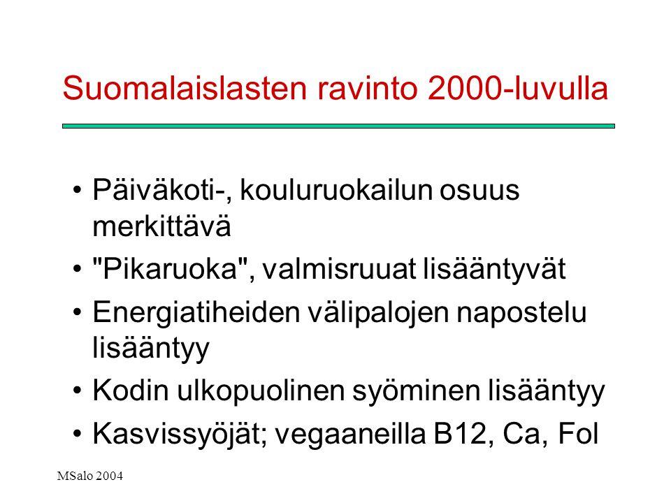 Suomalaislasten ravinto 2000-luvulla