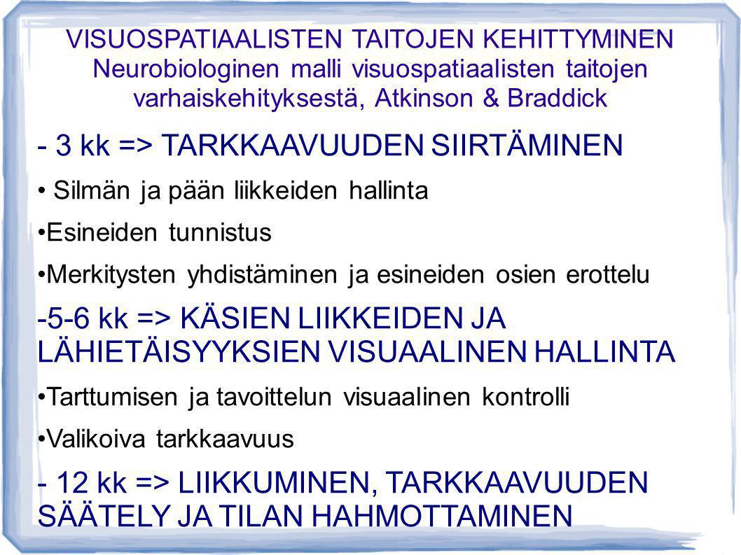 - 3 kk => TARKKAAVUUDEN SIIRTÄMINEN