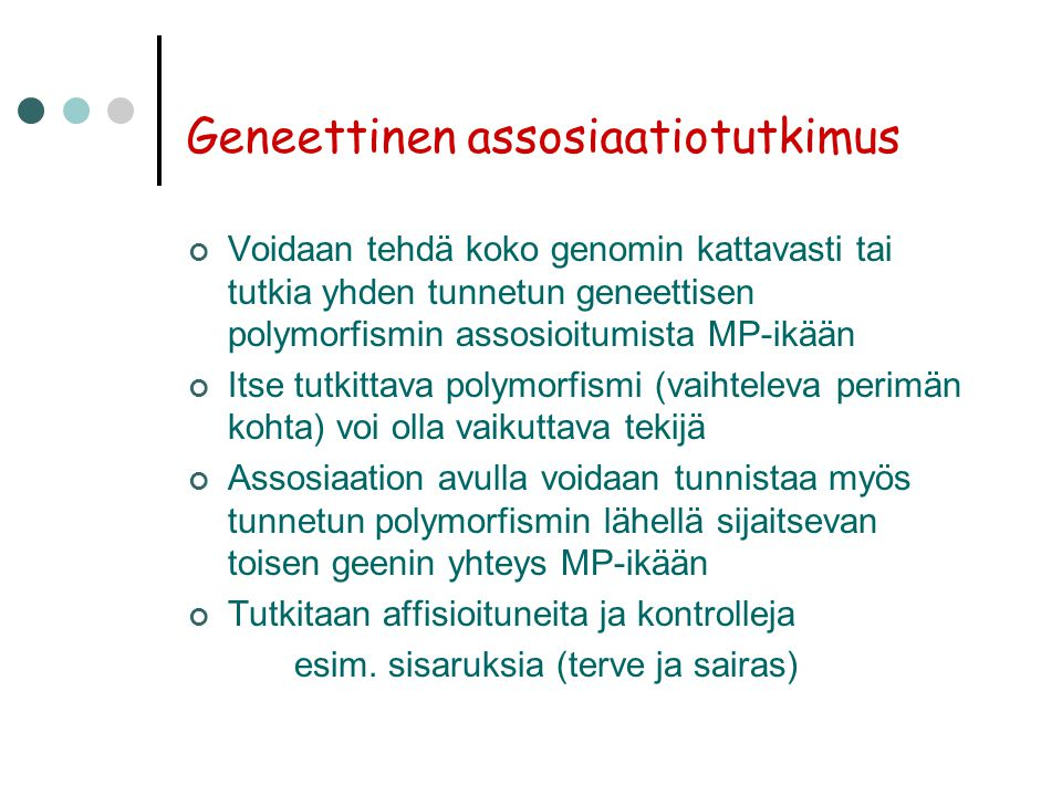 Geneettinen assosiaatiotutkimus