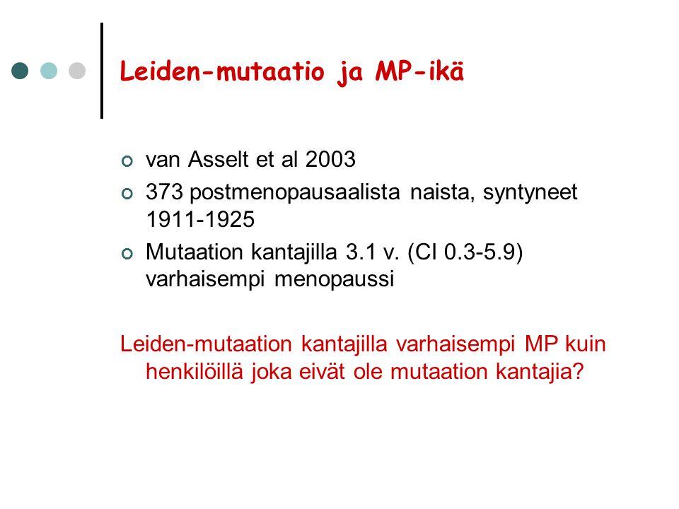 Leiden-mutaatio ja MP-ikä
