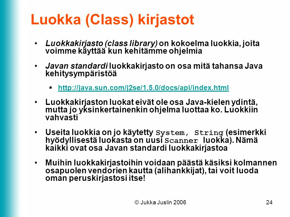Luokka (Class) kirjastot