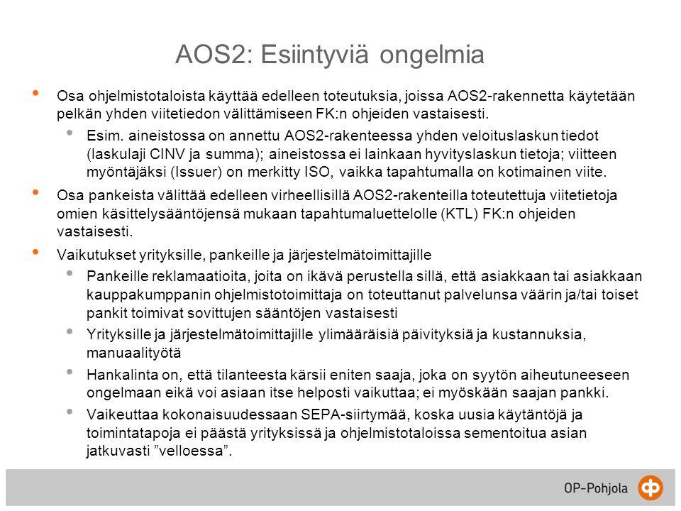 AOS2: Esiintyviä ongelmia