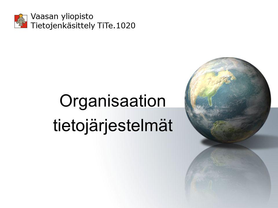 Organisaation tietojärjestelmät