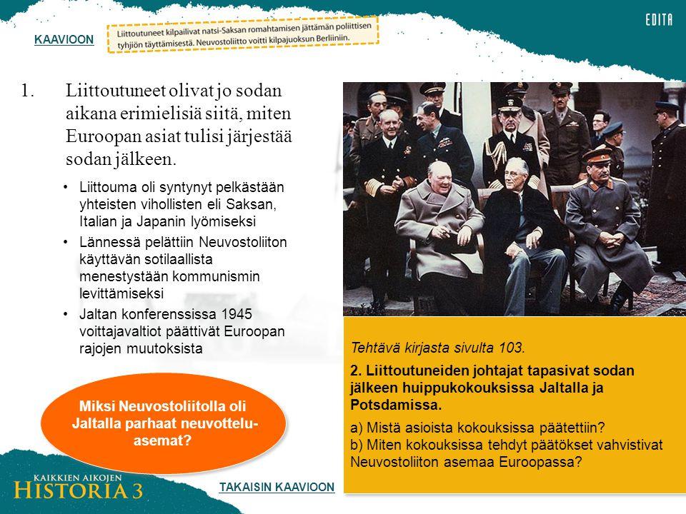 Miksi Neuvostoliitolla oli Jaltalla parhaat neuvottelu-