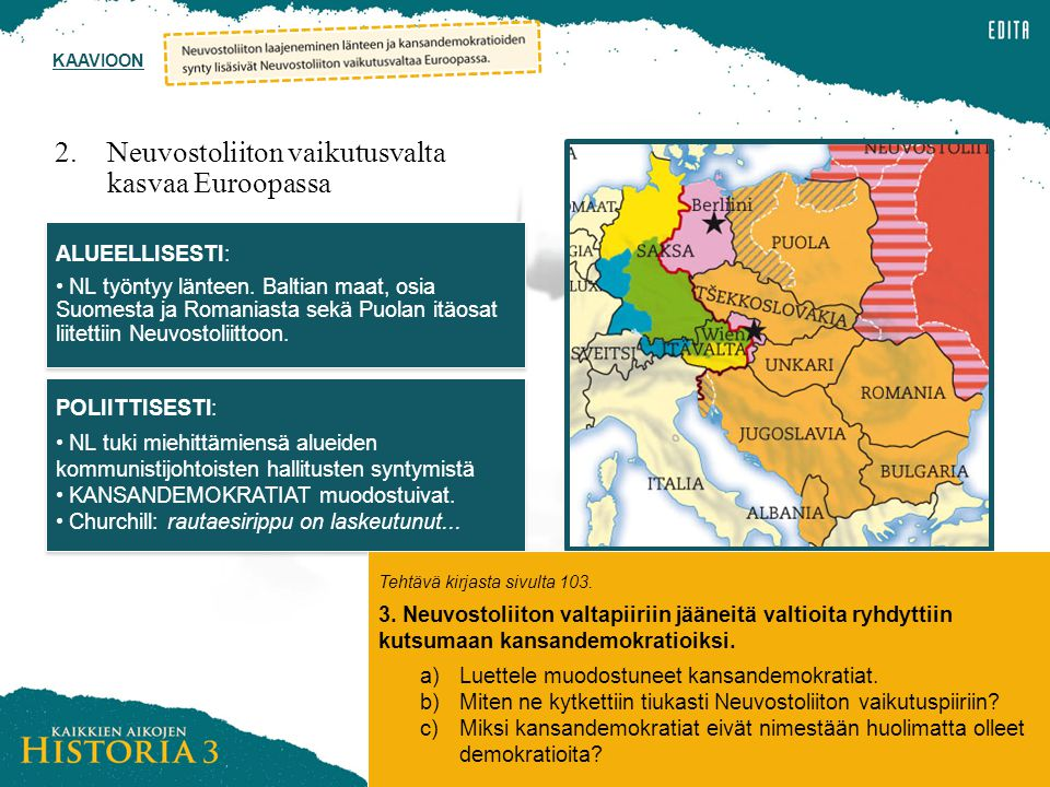 2. Neuvostoliiton vaikutusvalta kasvaa Euroopassa