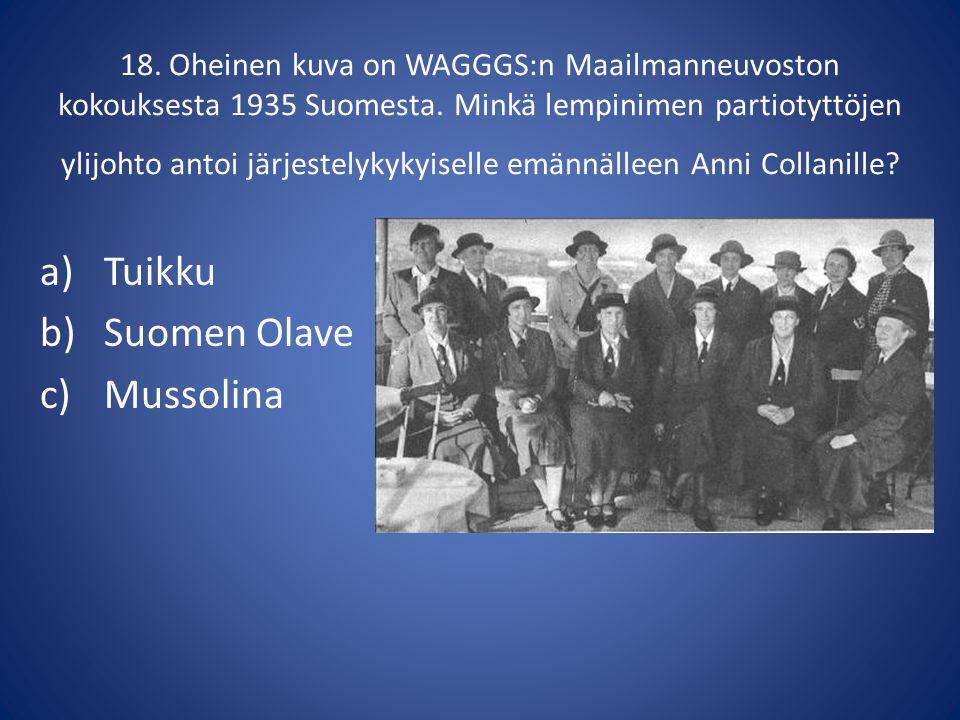 Tuikku Suomen Olave Mussolina